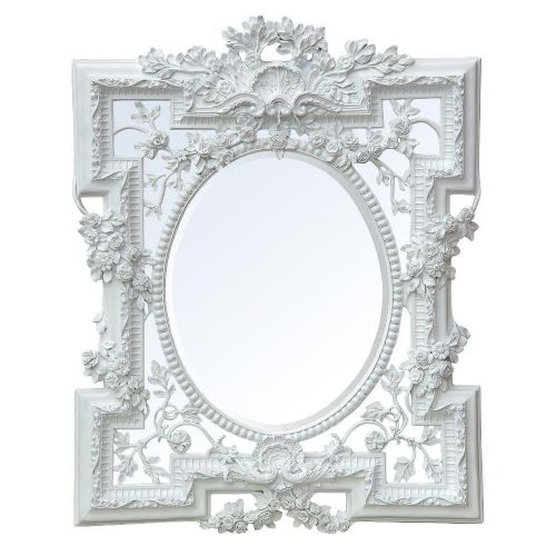 Florette White Bevelled Mirror